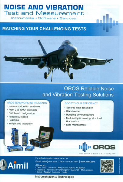 OROS Blog, Measuring Noise and Vibration: OROS at Aerospace